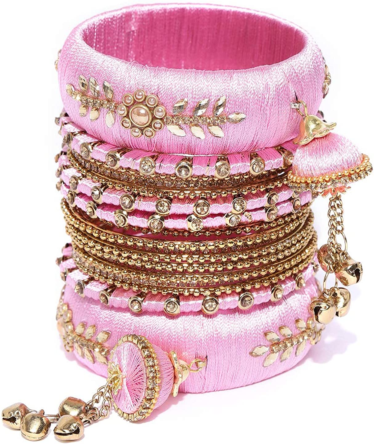 Indian Traditional Amazing Collection Partywear Latkan Thread Bangle For Women Wedding Jewelry