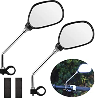 EEEKit Bike Mirror, 1 Pair Safer Bicycle Mirror for Handlebars, Bicycle Rearview Mirrors,Stainless Steel Lens,Mountain Bike Handlebar Mirror