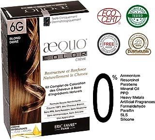 AEQUO 6G GOLDEN BLONDE PERMANENT NATURAL CREME HAIR COLOR KIT