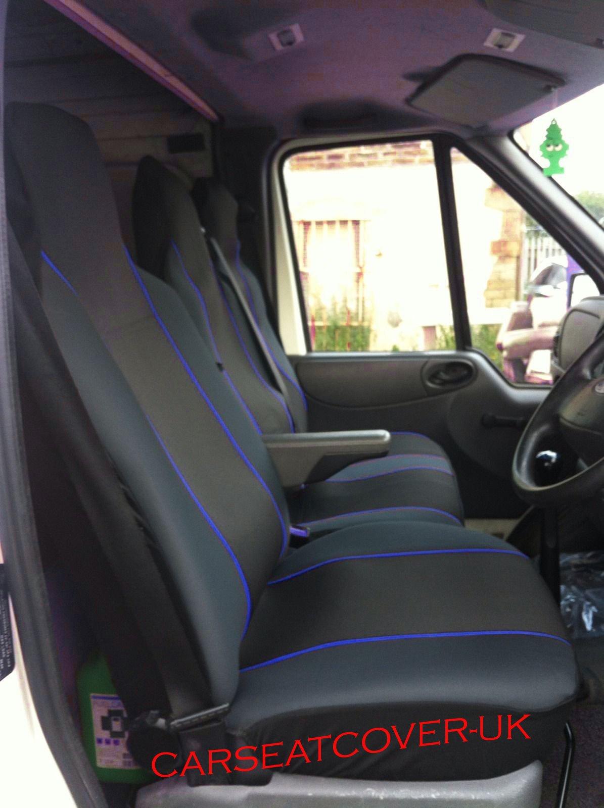 Vauxhall Movano-Heavy Duty de cuero Van Fundas De Asiento-Single doble 2-1