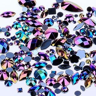 Mix Sizes 300pcs Crystal Clear AB Nail Art Rhinestones DIY Non Hotfix Flatback Acrylic Nail Stones Gems for 3D Nails Art D...