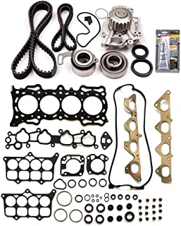 SCITOO Engine Timing Belt and Head Gasket Kit Fits 1992 1993 1994 1995 Honda Prelude2.2L 2156CC l4 Gas SOHC