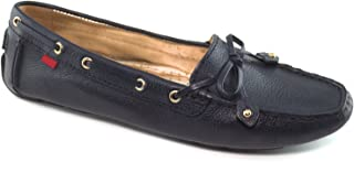 Women's Casual Comfort Genuine Leather Driving Moccasins Classic Tie-Bow Slip On Driving Loafer Flat Shoe