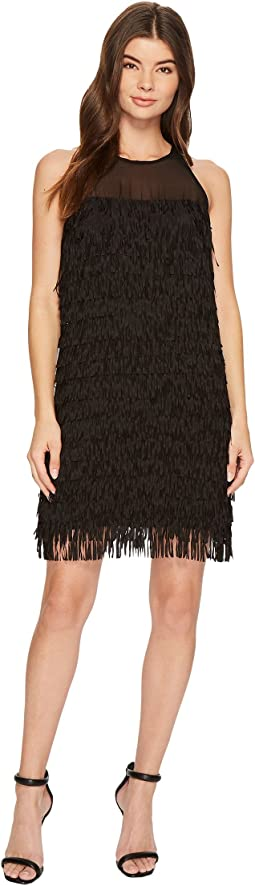 Aidan Mattox - Fringe Trapeze Dress