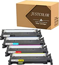 JUSTCOLOR Compatible Toner Cartridge Replacement for Samsung CLT-K406S CLT-C406S CLT-M406S CLT-Y406S use with Xpress C460FW C460W C410W CLX-3305 (1 Black, 1 Cyan, 1 Magenta, 1 Yellow, 4 Pack)