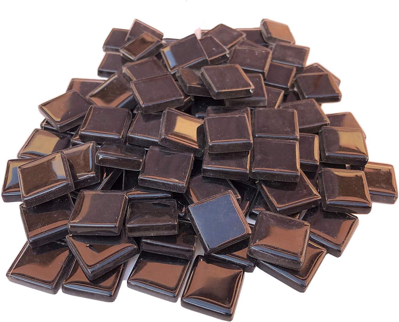 0.15Inch-H,100Pcs Black Mosaic Tiles Square 0.6 Inch Bulk Mosaic ...