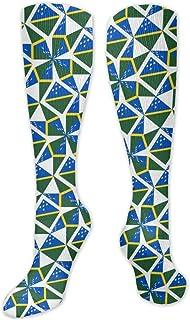 MISS-YAN, Calcetines de deporte para hombre y mujer, diseño de bandera de las Islas Salomón