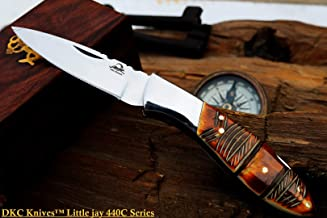 DKC Knives Sale DKC-58-LJ-EH-440c Little Jay Chief 440c Stainless Steel Folding Pocket Knife 4