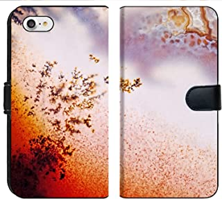 MSD Premium Phone Case Designed for iPhone 8 and iPhone 7 Flip Fabric Wallet Case Image ID: 24171559 Jewelry and Decorative Stone Moss Agate Macro Raw Rough Plate Ka