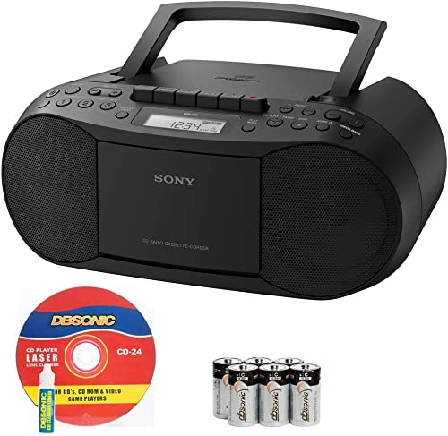 wholesale Sony Compact Portable wholesale Stereo Sound System Boombox with MP3 CD Player, Digital Tuner AM/FM Radio, Tape wholesale Cassette Recorder, Headphone Output & 3.5mm Audio Auxiliary input Jack to connect any iPod, iPhone or Digital Audio Device - Features: Mega Bass Reflex Speakers, 20 Track RMS Programming, 30 Presets, LCD Display, Auto Scan Tuning, Synchronized Dubbing & RecordingBonus DB Sonic CD Laser Lens Head Cleaner & Alkaline Batteries Included outlet online sale
