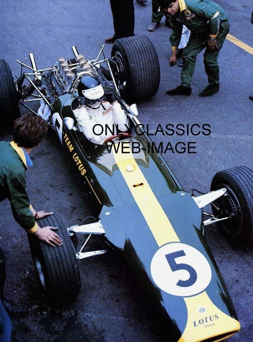 kema Jim Clark Lotus F1 gift idea mounted photo and printed autograph 8x6 mounted display