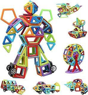 infinitoo 109 Pcs Magnetic Building Blocks, Magnet Blocks Set 3D Building Blocks, Educational Construction Kit Magnet Stac...