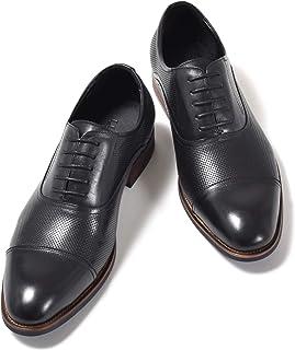 [ルシウス] 本革 レザー ビジネスシューズ メンズ 革靴 レースアップ ローファー スリッポン ダブルモンクストラップ 内羽根 外羽根 ロングノーズ ドレスシューズ ストレートチップ プレーントゥ Uチップ 春靴 [ ZNX75B ]