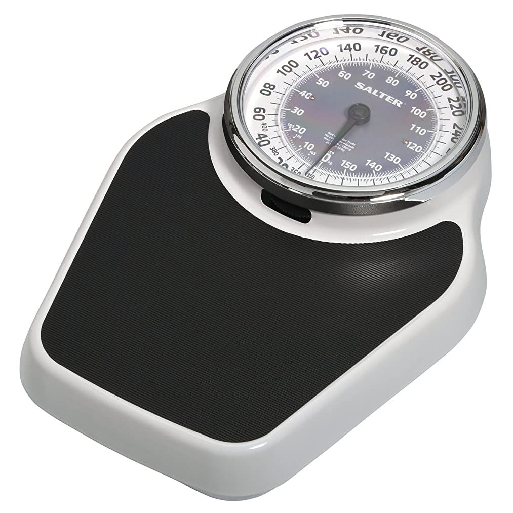 Salter Professional Analog Mechanical Dial Bathroom Scale, 400 Lb. Capacity