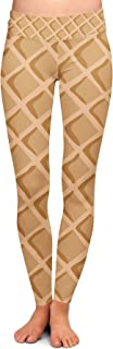 Queen of Cases Icecream Waffle Cone Yoga Leggings XS-3XL