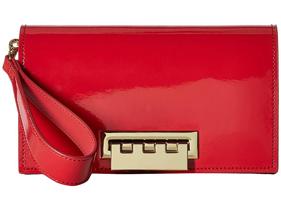 ZAC Zac Posen Earthette Clutch Patent (Chili Pepper) Handbags, Red