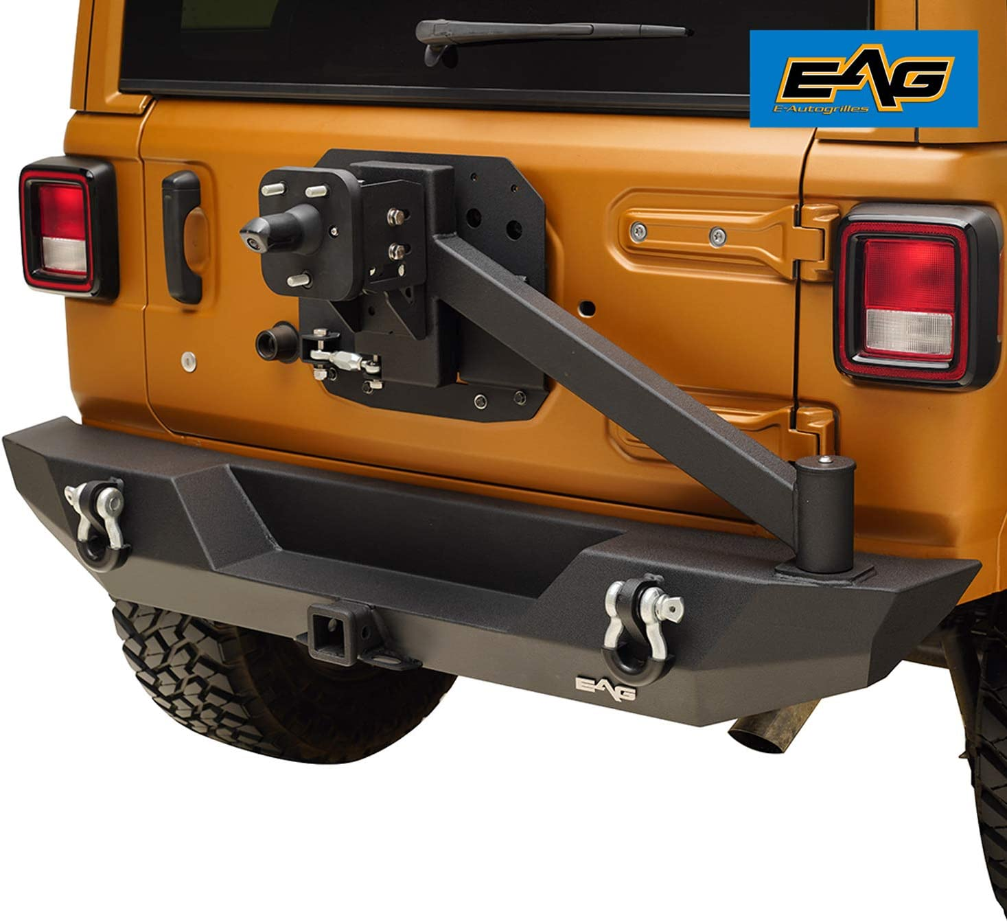 EAG Rear Bumper with Tire Carrier Fit for New life 18-21 Adapter and Super sale