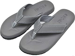 Mens Sandals Flip Flops Athletic Cushion Footbed Waterproof