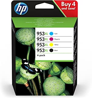 HP 3HZ52AE#301 (953XL) Ink Cartridge Multi Pack, 42,5ml + 3x20,5ml, Pack Qty 4