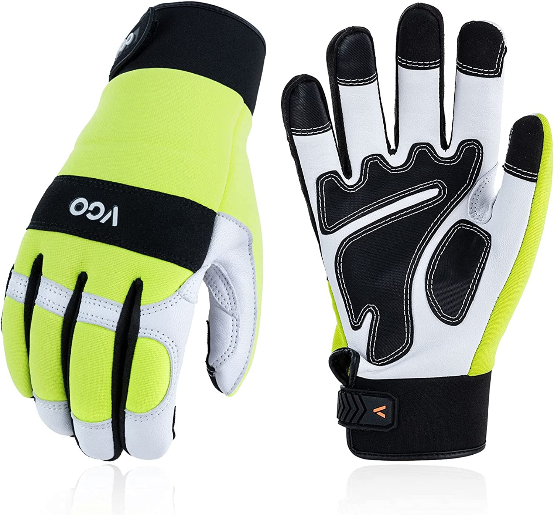 Vgo Safety service Leather Luxury goods Work Gloves Multi-purp Mechanics Men