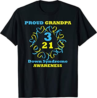 Down Syndrome Awareness T Shirt Proud Grandpa T Shirt
