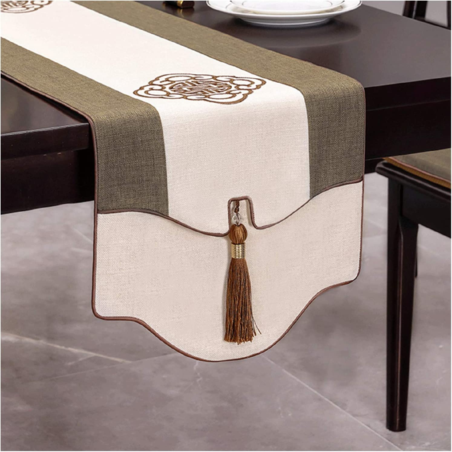 WKDZ Table Max 82% OFF Lowest price challenge Runner Cotton Linen Embroidery Coffee T Cloth and Art