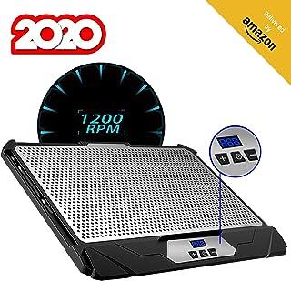 KLIM™ Swift Base de Refrigeración para Portátil Alto Rendimiento en Aluminio para PC y Mac con Soporte de Base de Refrigeración - Nueva Versión 2020 - Negro
