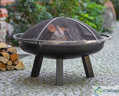 korono hoguera 70 cm con agujero & rejilla protectora transporte Ring & | Jardín Fuegos | Interfaz – Atmósfera acogedora: Amazon.es: Jardín