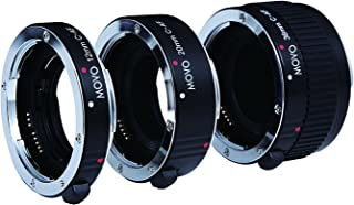 Movo Photo AF Macro Extension Tube Set for Canon EOS DSLR Camera with 12mm, 20mm and 36mm Tubes (Metal Mount)
