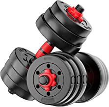 Dumbbells Barbell Set with Connecting Rod Adjustable Dumbbell Weights Set Lifting Training Kit Fitness Equipment for Exerc...