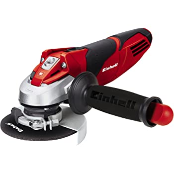Einhell TE-AG 115 - Amoladora angular, mango auxiliar regulable, disco de 115 mm, 11000 rpm, 720 W, 230 V, color negro y rojo