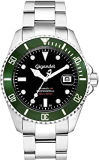 Gigandet Reloj de Hombre Automático Sea Ground Reloj de Buceo Analógico Correa de Acero Negro Verde G2-005