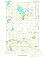 YellowMaps Hamar ND topo map, 1:62500 Scale, 15 X 15 Minute, Historical, 1962, Updated 1965, 20.9 x 17 in