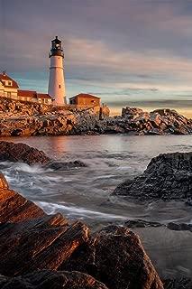 Sunrise Portland Head Lighthouse Cape Elizabeth Photo Art Print Cool Huge Large Giant Poster Art 36x54