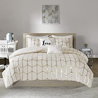 Intelligent Design Raina Duvet Cover Set, Twin/Twin XL, Ivory/Gold