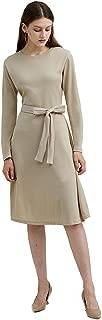 Papicutew Women's Long Sleeve Casual Midi Wrap Dress Crewneck Ribbed Knit Dresses