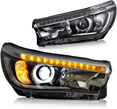 YUANZHENG Sequential LED Headlights for [TOYOTA REVO HILUX VIGO 8th Gen Pickup 2015 2016 2017 2018] with High Beam Low Beam Projectors LED DRLs, YAA-VG-2019H
