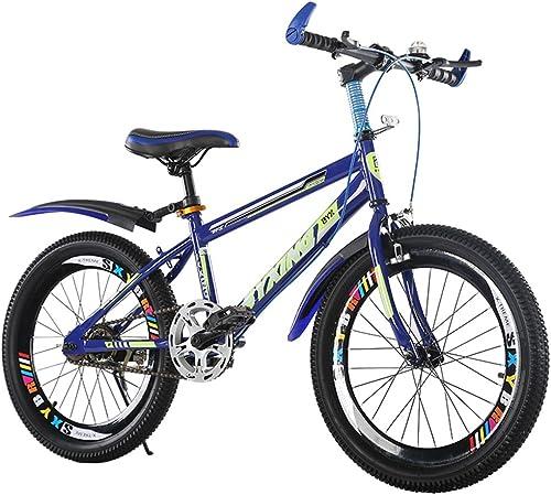 en stock CivilWeaEU- Bicicleta para para para Niños 6-7-8-9-10-11-12 20 22 Pulgadas Bicicleta de la Escuela Primaria Opcional (Color   azul-A, Tamaño   22 Inches)  buena reputación