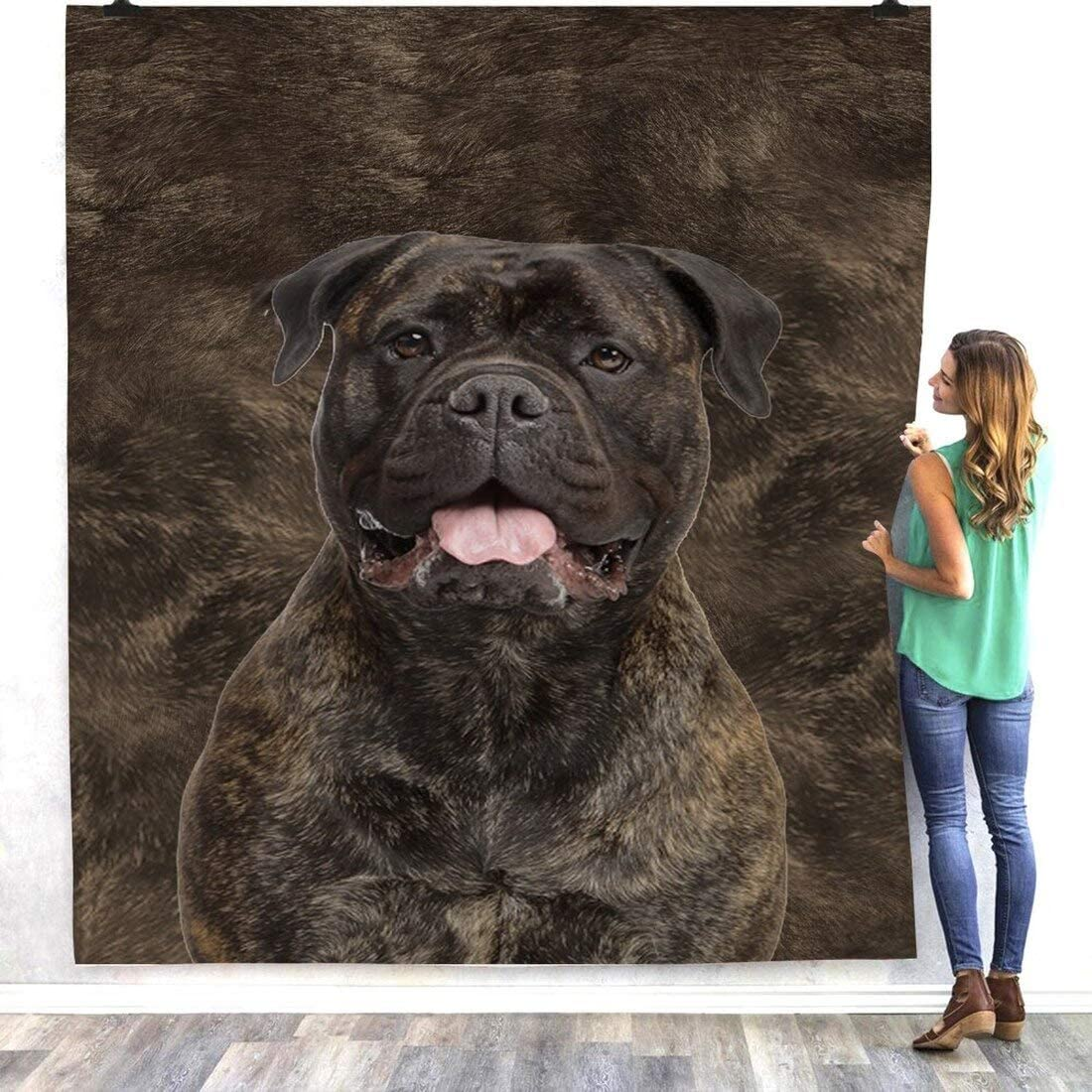 Personalized 3D Bull Mastiff Soft Sherpa Blanket Dog Fleece Don't miss the online shop campaign Blan