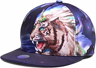 Puli Unisex Adjustable Snapback 3D Printed Hip Hop Flat Bill Baseball Cap Hats