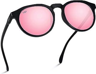 Sponsored Ad - WearMe Pro - Retro Round Flat Top Frame Mirrored Fashion Sunglasses