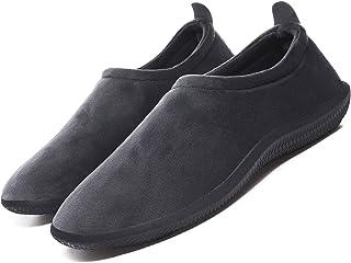 Zapatillas de Invierno Mujer Hombre Pantuflas de algodón con Memoria Zapatillas de Estar Al Aire Libre Forro cálido Pantuf...