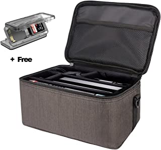 Nintendo Switch Case, Kindax Shoulder Switch Bag for Traveling with Plenty of Room for the Carrying of the Console, Dock, AC Adapter and other Accessories (Elegent Brown)
