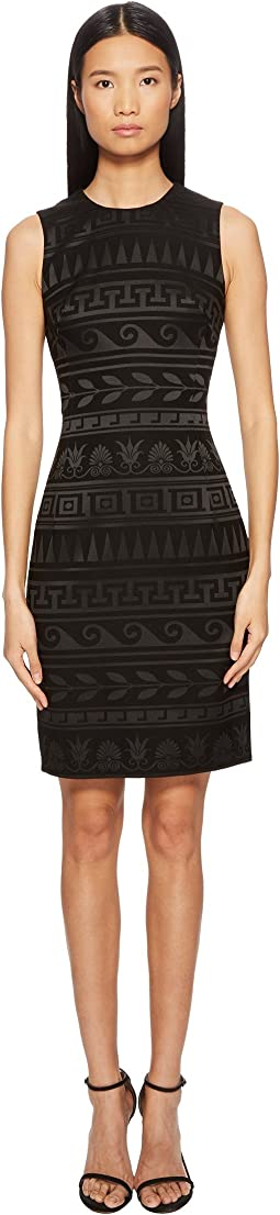 Versace Collection - Abito Donna Tessuto Tonal Printed Sheath Dress