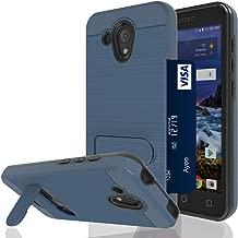Ayoo for:Alcatel Verso Case,Alcatel idealXCITE/Alcatel Cameox/Alcatel 5044R Case with HD Screen Protector,[Card Slot Holder Kickstand] Dual Layer Shock-Absorption Case for Alcatel Verso-ZJ Metal Slate