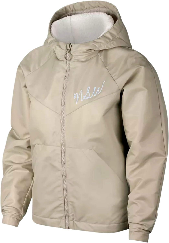 Nike WOMEN'S Sportswear NSW Sherpa Reversible Full Zip Hooded Jacket