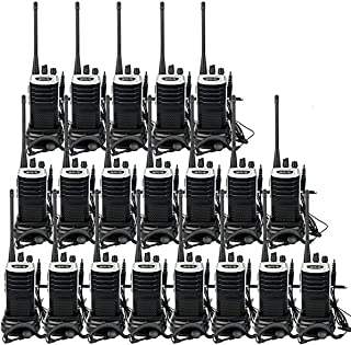 Retevis RT7 2 Way Radio VOX FM 16CH Walkie Talkies Rechargeable Long Range Two-Way Radios with Earpiece(20 Pack)