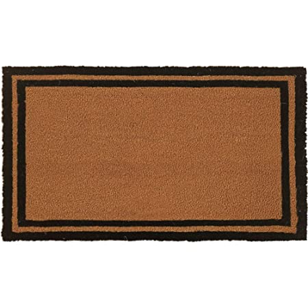 Gorilla Grip Natural Coco Coir Door Mat, 30x18, Thick Durable Doormats for Indoor Outdoor Entrance, Heavy Duty, Low Profile Mats, Easy to Clean, Plain Front Porch Entry Rug, Home Décor, Classic