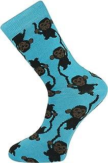 Mysocks Crew Socks Monkey Design