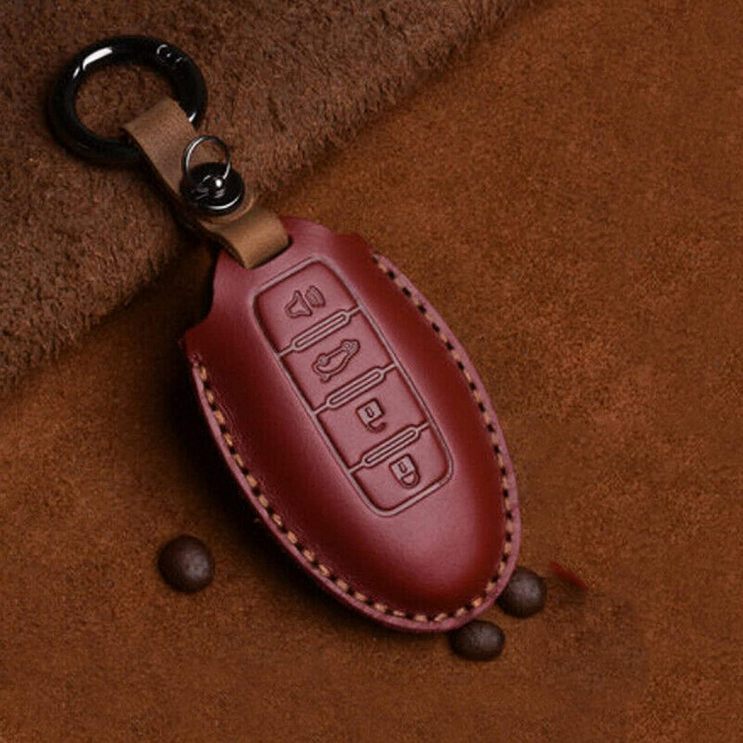 PIOLOSD Handmade Leather Car Key Cover 2020 for price Fit Max 83% OFF Nissan 2019